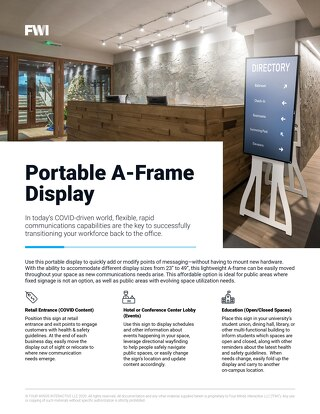 Portable A-Frame Display