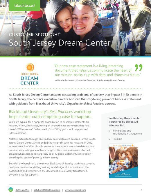 South Jersey Dream Center Customer Story