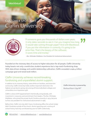Success Story: Claflin University