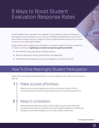 6 Ways to Boost Student Evaluation Response Rates