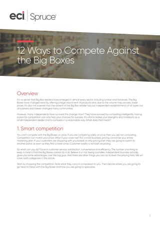 12 Ways To Compete Against The Big Boxes - Whitepaper
