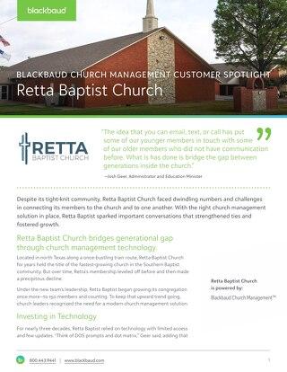 Retta Baptist Customer Story