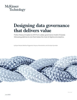 Designing data governance that delivers value