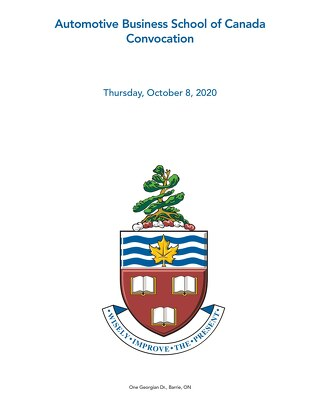 Automotive Business School of Canada Convocation Oct 8 2020