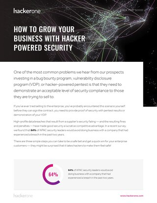 How To Grow Your Business With Hacker Powered Security - APAC