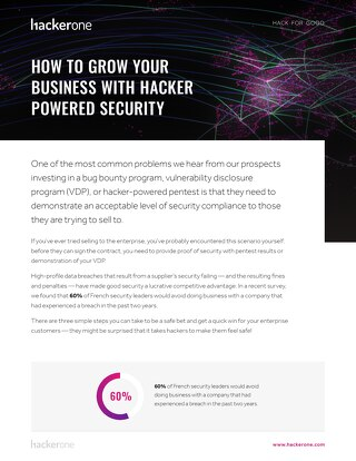 How To Grow Your Business With Hacker Powered Security - FR