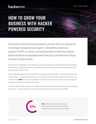 How To Grow Your Business With Hacker Powered Security - UK