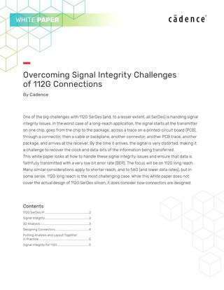 Overcoming Signal Integrity Challenges of 112G Connections