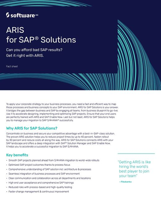Fact Sheet: ARIS for SAP® Solutions