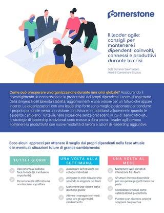 Il leader agile: consigli per mantenere i dipendenti coinvolti, connessi e produttivi durante la crisi