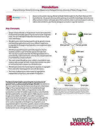 Ward's World+McGraw Hill Mendelian Genetics Activity