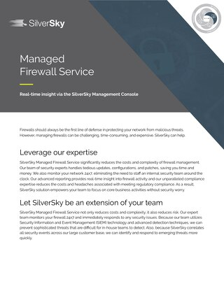 SilverSky Managed Firewall Service
