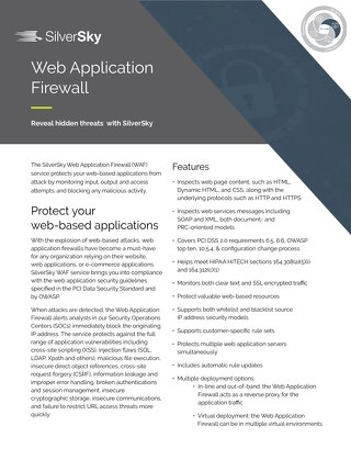 SilverSky Web Application Firewall