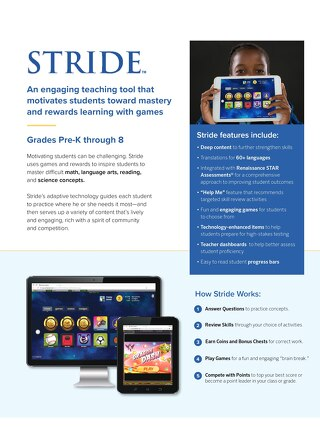 Stride Adaptive Rewards-Based Learning