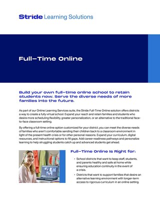 Full-Time Online Learning