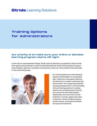Training Options for Administrators