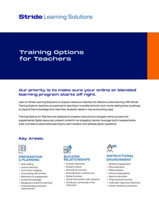 Training Options for Teachers
