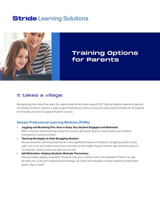 Training Options for Parents