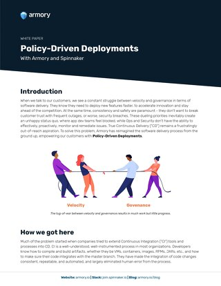 Policy Driven Deployments with Armory & Spinnaker