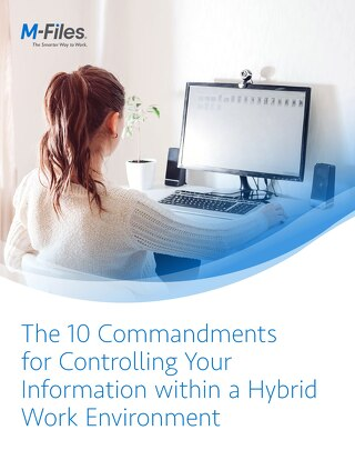 The Ten Commandments for Controlling Your Information within a Remote Work Environment
