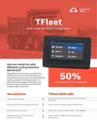 TFleet Bulk Materials Fleet Management