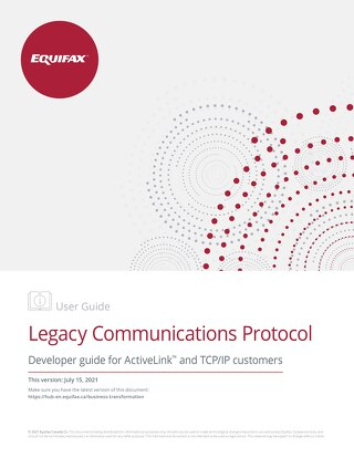 Developer Technical Guide: TCP/IP (ActiveLink)