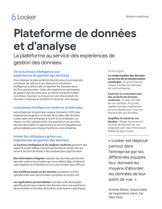 Plateforme de données et d'analyse