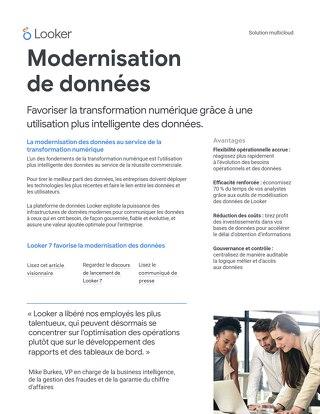 Modernisation de données