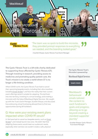 Cystic Fibrosis Trust UK | Digital Services