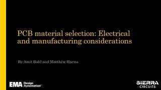 Selecting PCB Materials Slides