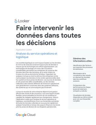 Opérations et Logistique: Faire intervenir les données dans toutes les décisions