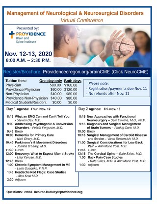 2020 VIRTUAL Fall Conference Flyer