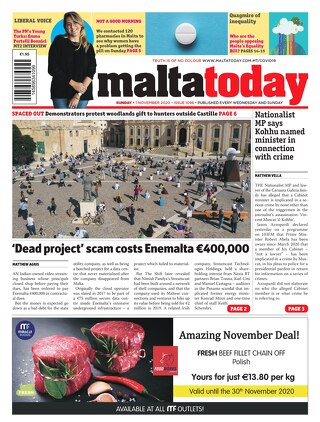 MALTATODAY 1 November 2020