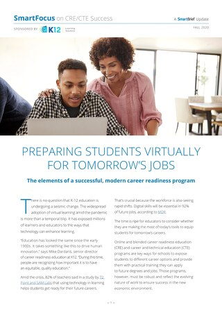 Preparing Students Virtually for Tomorrow's Jobs