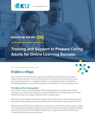 Preparing Caring Adults for Online Learning Success