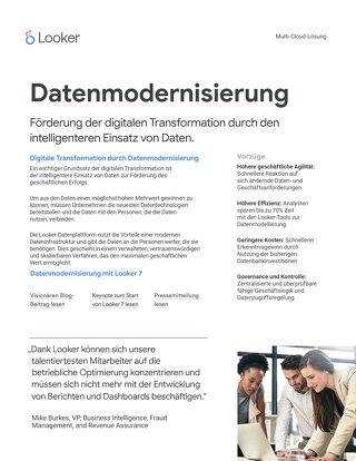 Datenmodernisierung