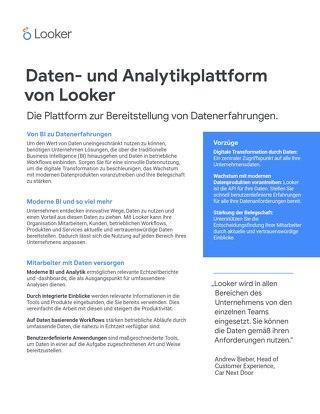 Daten- und Analytikplattform von Looker