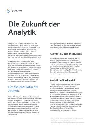 Die Zukunft der Analytik