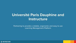 Université Paris Dauphine and Instructure