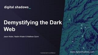 Demystifying the Dark Web - Middle East - Digital Shadows Slides