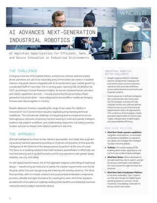 Next-Generation Industrial Robotic Capabilities Advanced by Artificial Intelligence