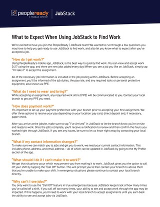 What to Expect When Using JobStack to Find Work