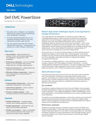 Dell EMC PowerStore – Designed for the Data Era