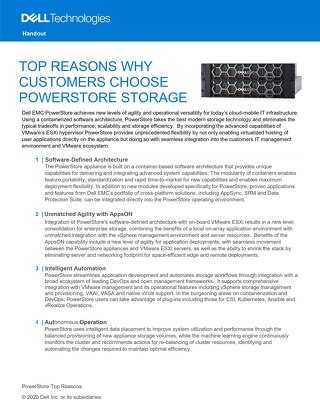 Top Reasons Why Customers Choose Powerstore Storage – Dell Technologies
