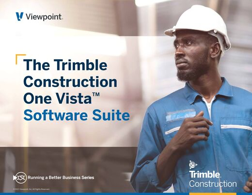 The Construction Software Blueprint: ViewpointOne Vista Construction Software Suite