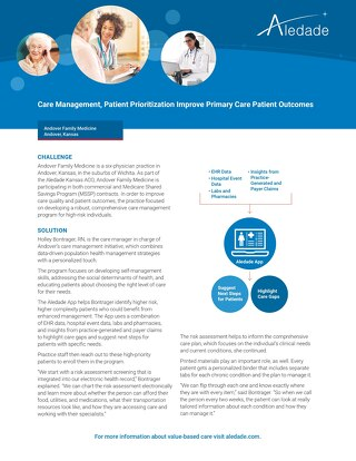 Care Management, Patient Prioritization, Improve Patient Outcomes