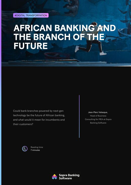 Could branches powered by next-gen technology be the future of African banking, and what would it mean for incumbents and their customers?