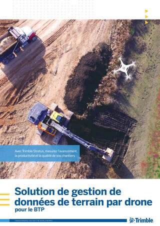 Trimble Stratus - Drone Data Analytics for Construction Brochure - French