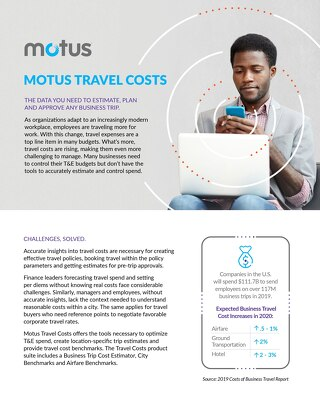 Motus Travel Costs One Pager