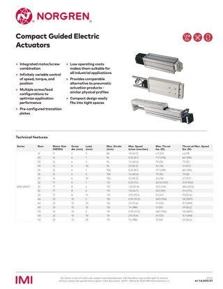 Norgren Compact Guided Electric Actuators